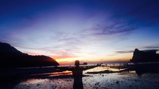 sunset at koh phi phi
