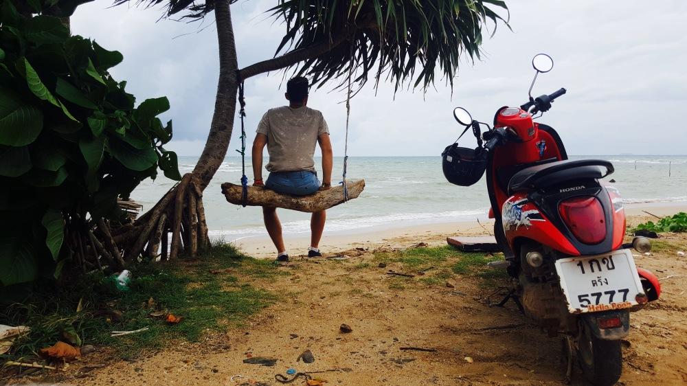 motorbike seashore beach break